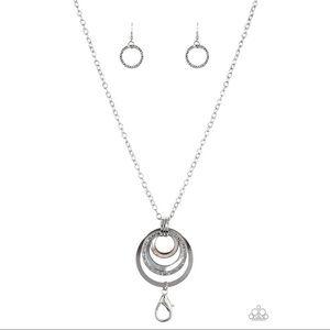 Paparazzi Coast Coasting Lanyard Necklace - silver